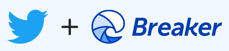 Twitter breaker logos
