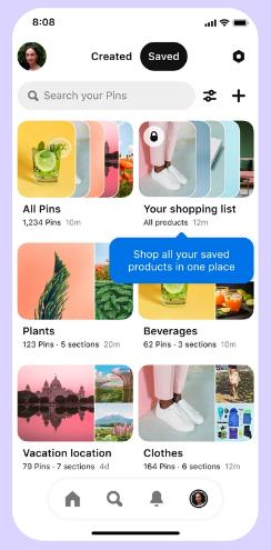 Pinterest shopping list